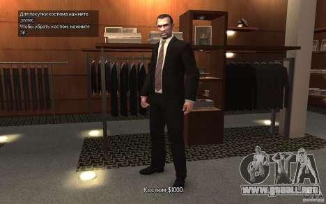 Chaquetas abiertas con lazos para GTA 4 segundos de pantalla