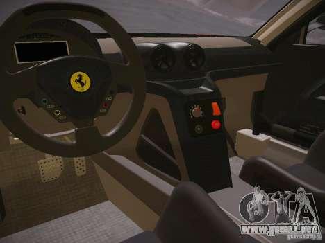 Ferrari 599XX para GTA San Andreas vista hacia atrás