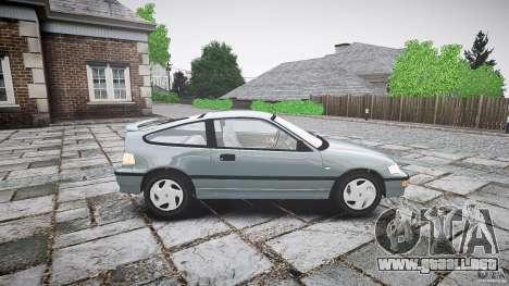 Honda CRX 1991 para GTA 4 vista lateral