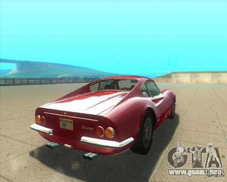 Ferrari Dino 246 GT para GTA San Andreas vista posterior izquierda