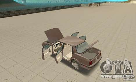 Oldsmobile Cutlass Ciera 1993 para vista lateral GTA San Andreas