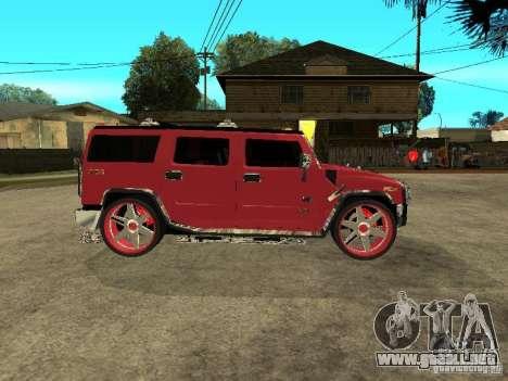 Hummer H2 Diablo para GTA San Andreas vista posterior izquierda