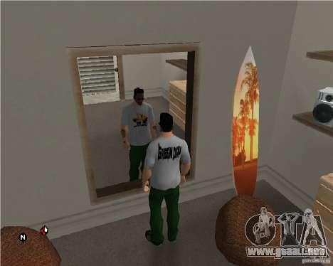 Día verde t-shirt para GTA San Andreas