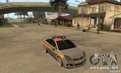 Opel Vectra 2009 Metropolitan Police para GTA San Andreas vista hacia atrás
