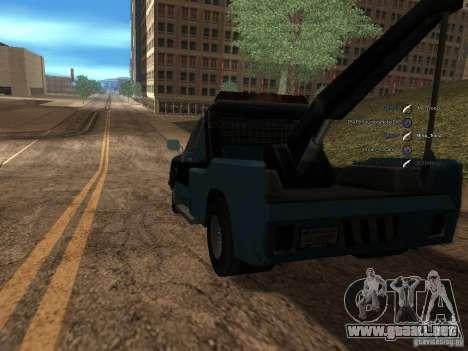 Chevrolet Towtruck para GTA San Andreas vista posterior izquierda