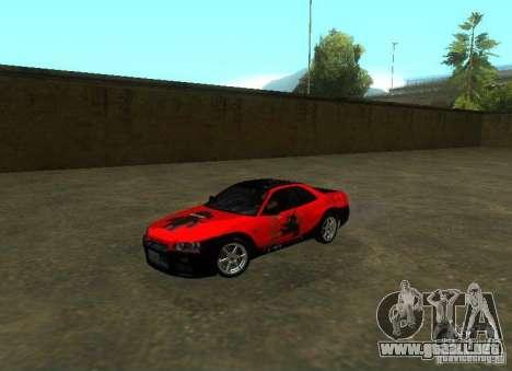 Nissan Skyline GTR-34 para GTA San Andreas interior