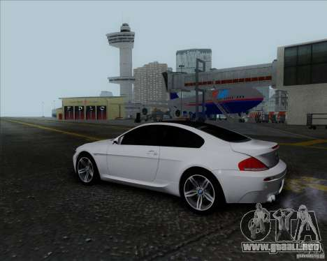 BMW 6 Series M para visión interna GTA San Andreas