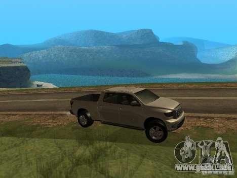 Toyota Tundra 2009 para la visión correcta GTA San Andreas