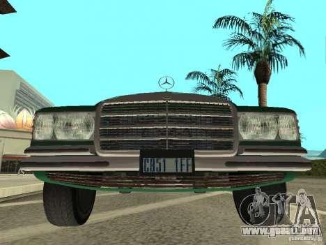 Mercedes - Benz 280SE para GTA San Andreas vista posterior izquierda
