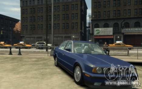 BMW 535i (E34) para GTA 4 vista hacia atrás