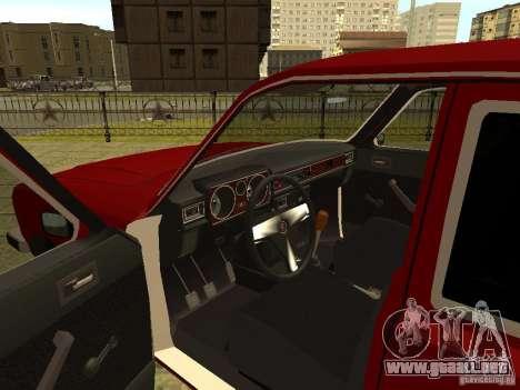 Volga GAZ 3102 para visión interna GTA San Andreas