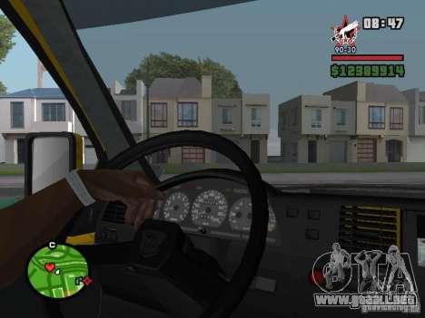 Tablero de instrumentos activo para GTA San Andreas sucesivamente de pantalla