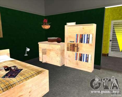New Interior of CJs House para GTA San Andreas sucesivamente de pantalla