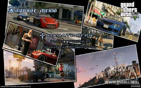 Pantallas de inicio al estilo de GTA 5 para GTA San Andreas sucesivamente de pantalla