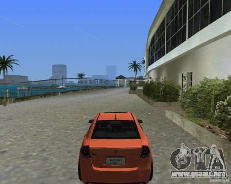 Pontiac G8 GXP para GTA Vice City vista lateral izquierdo
