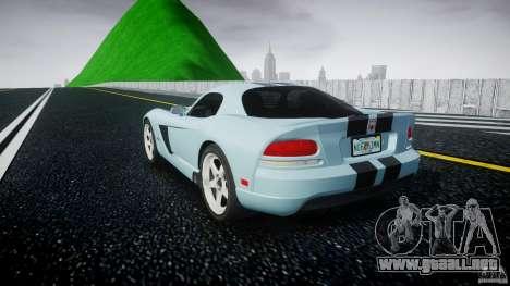 Dodge Viper SRT-10 para GTA 4 Vista posterior izquierda