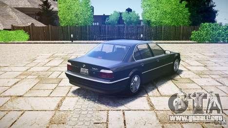 BMW 740i (E38) style 37 para GTA 4 Vista posterior izquierda