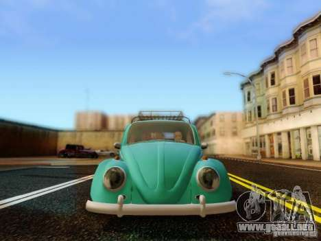Volkswagen Beetle 1300 para GTA San Andreas vista hacia atrás