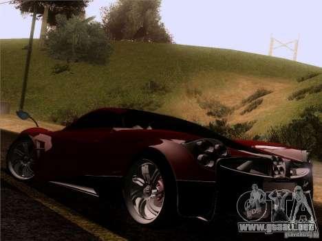 Pagani Huayra 2012 para GTA San Andreas vista posterior izquierda