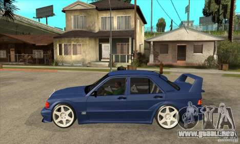 Mercedes-Benz w201 190 2.5-16 Evolution II para GTA San Andreas left