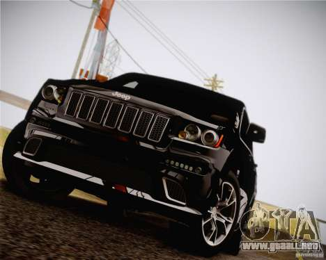Jeep Grand Cherokee SRT-8 2012 para GTA San Andreas