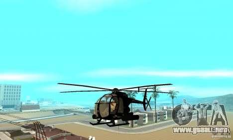 AH-6C Little Bird para visión interna GTA San Andreas