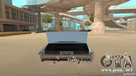 Music car v4 para GTA San Andreas tercera pantalla