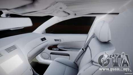 Lexus GS450 2006 Limousine para GTA 4 vista interior