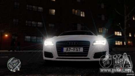 Audi A7 Sportback para GTA 4 vista superior