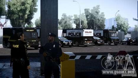 Boxville Police para GTA 4 vista interior