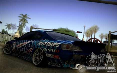 Nissa Silvia S15 Toyo para la visión correcta GTA San Andreas