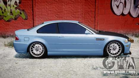 BMW M3 E46 Tuning 2001 para GTA 4 vista lateral