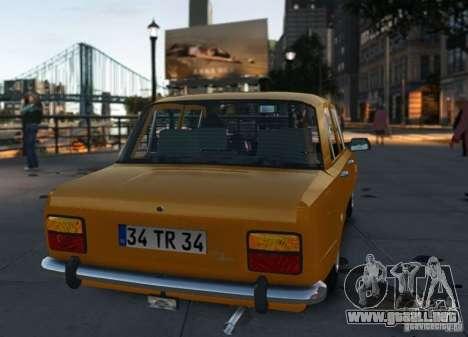 Fiat 124 para GTA 4 visión correcta