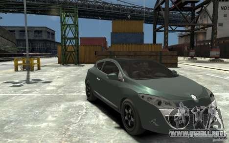 Renault Megane Coupe para GTA 4 vista hacia atrás