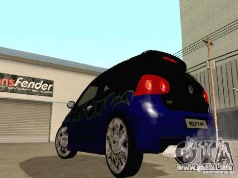Volkswagen Golf V GTI para visión interna GTA San Andreas