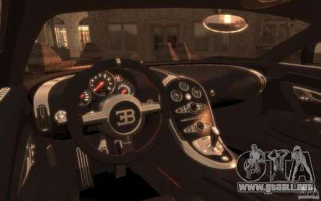 Bugatti Veyron Super Sport 2010 para GTA 4 Vista posterior izquierda