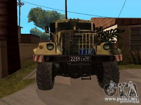 KrAZ 255 B1 v 2.0 para GTA San Andreas left