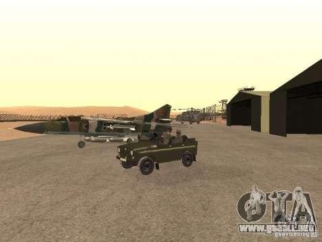 Mikoyan-Gurevich Mig-23 para GTA San Andreas vista hacia atrás