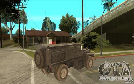 Military Truck para GTA San Andreas vista hacia atrás