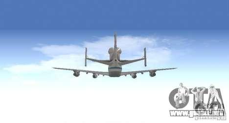 Boeing 747-100 Shuttle Carrier Aircraft para visión interna GTA San Andreas