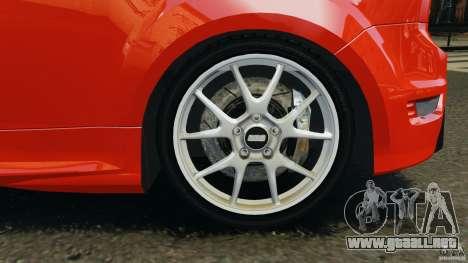 Ford Focus RS para GTA 4 vista desde abajo