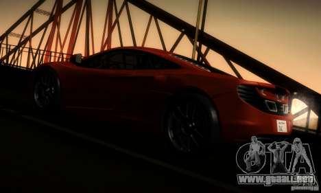 McLaren MP4-12C TT Black Revel para GTA San Andreas vista hacia atrás