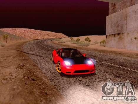 Acura NSX Stance Works para GTA San Andreas left