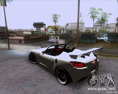 Saturn Sky Roadster para la vista superior GTA San Andreas