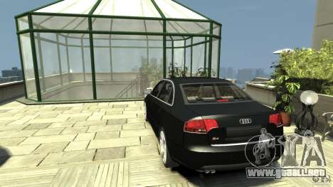 Audi S4 Quattro para GTA 4 Vista posterior izquierda
