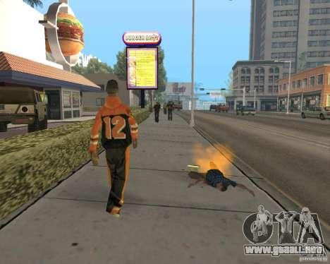 Municiones incendiarias para GTA San Andreas sucesivamente de pantalla