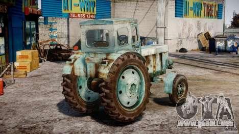 Tractor T-40 m para GTA 4 vista lateral