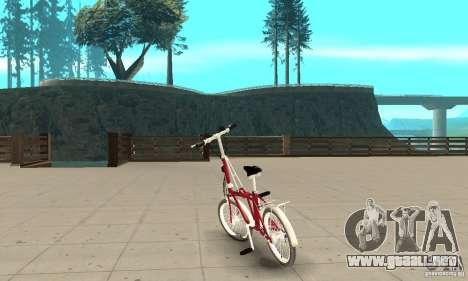 Child Bicycle para GTA San Andreas vista posterior izquierda