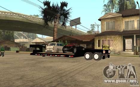 Trailer lowboy transport para GTA San Andreas left