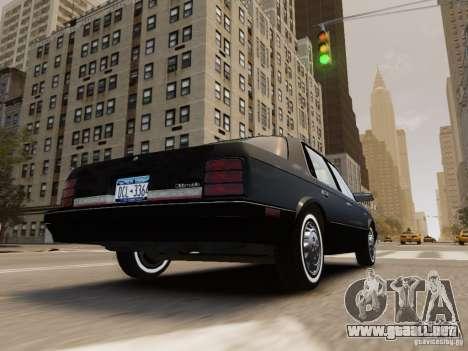 Oldsmobile Cutlass Ciera 1993 para GTA 4 vista desde abajo